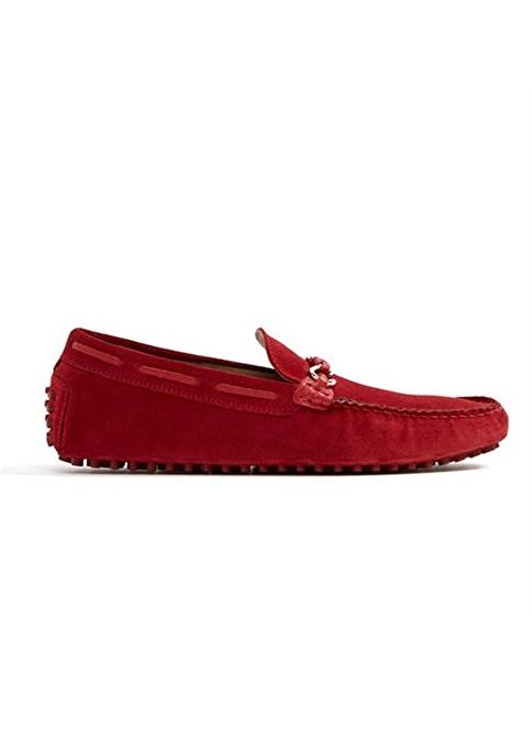 Aldo %100 Deri Loafer Ayakkabı Kırmızı